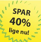 Spar 40% på kvalitetsmaling lige nu!