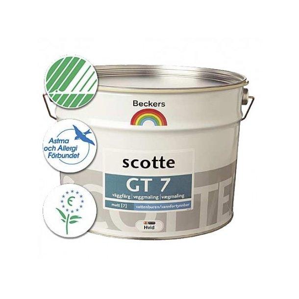 Scotte GT 7 - Ekstrem slidstærk væg- og loftsmaling - Glans 7